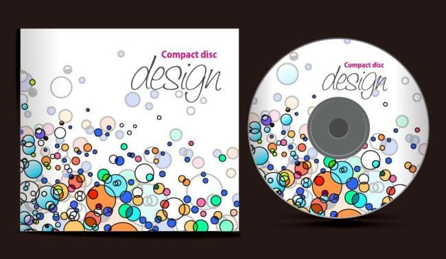 【eps】音乐背景光盘和封面设计图片