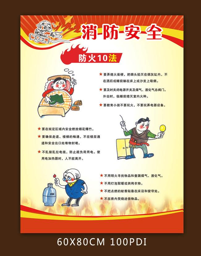 【psd】消防安全展板模板