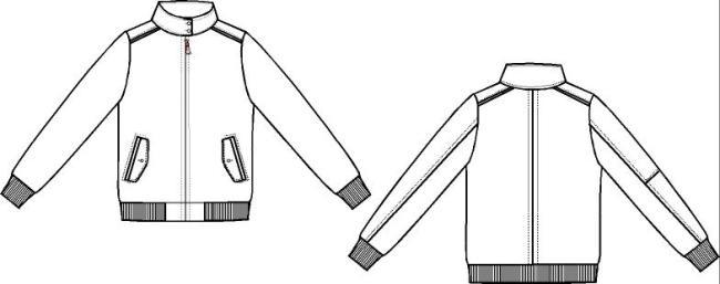 男装平脚裤矢量图