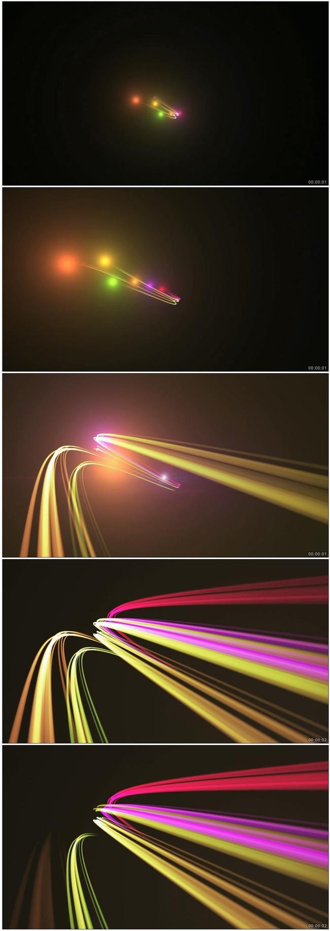 素材 背景 前景 婚庆 后期 光彩 转场 下载 光滑 说明:流动光芒光束流