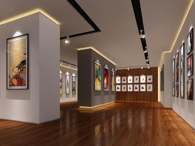 画展展厅设计效果图2