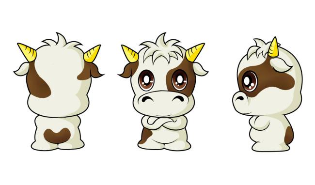 卡通形象 > 小牛卡通形象三视图psd分层源文件下载  关键词: 可爱小牛