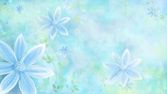 会声会影 后期 喜影 制作 蓝色 素雅 花朵 鲜花 花纹 素雅 唯美 旋转