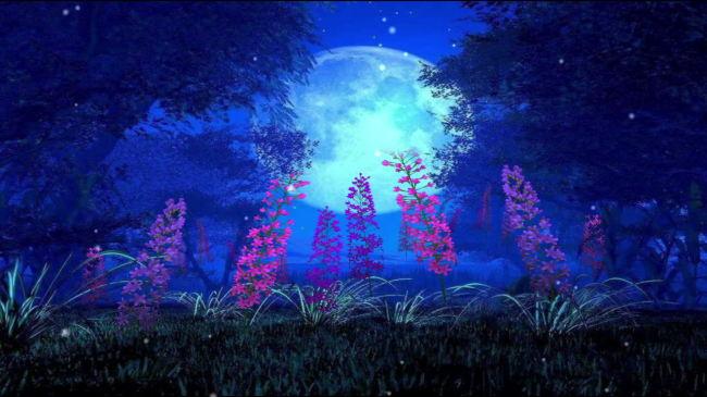 【mov】鲜花盛开唯美风景梦幻仙境植物led大屏幕高清视频