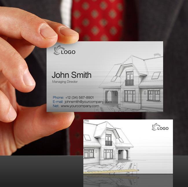 建筑设计工程施工装潢房地产名片设计师名片 名片 说明:装修名片设计