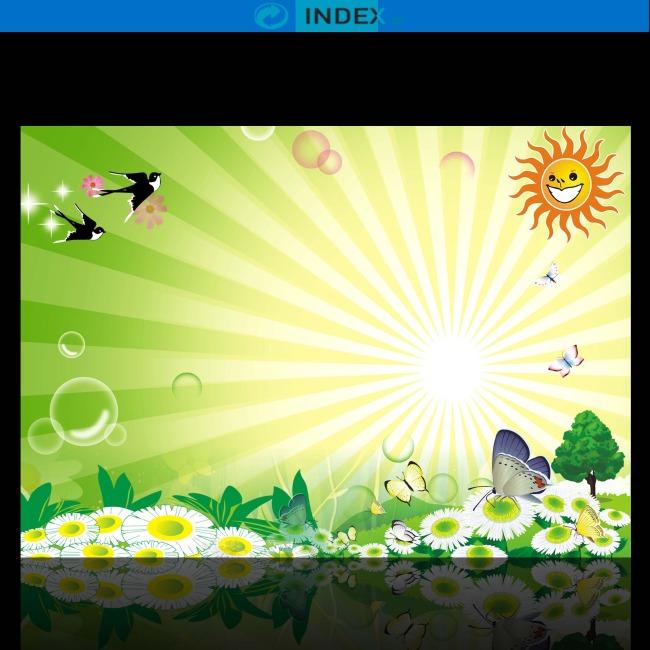 【psd】卡通手绘春天环保促销海报设计