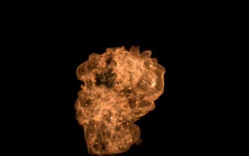 火爆炸烟雾素材