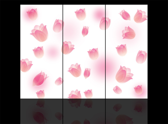 【psd】兰花玻璃移门