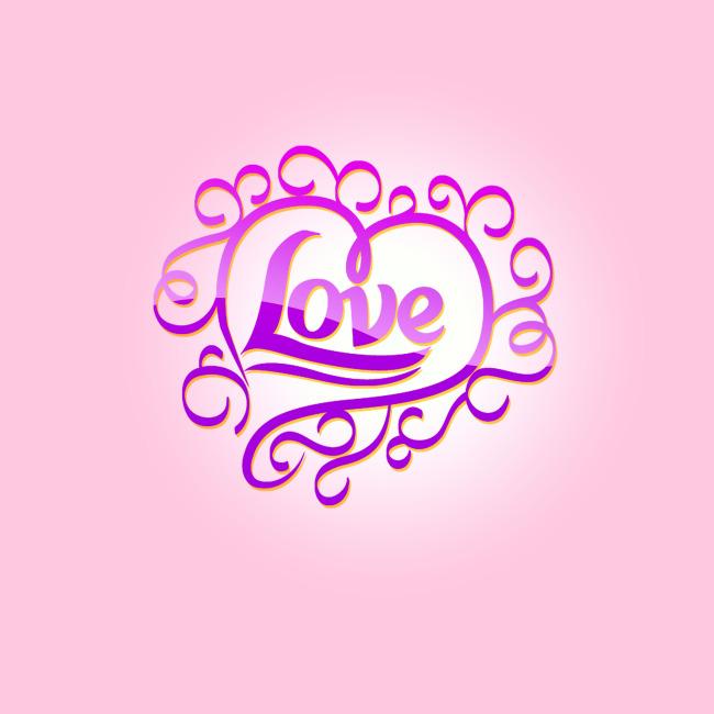 爱情 爱心 爱上爱情 飘逸字体 连体字 花体字 英文花体字 说明:love