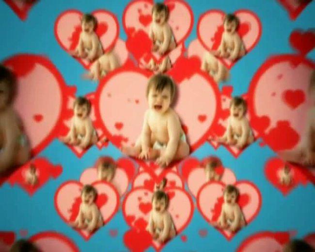 【mov】卡通可爱娃娃镜像背景素材