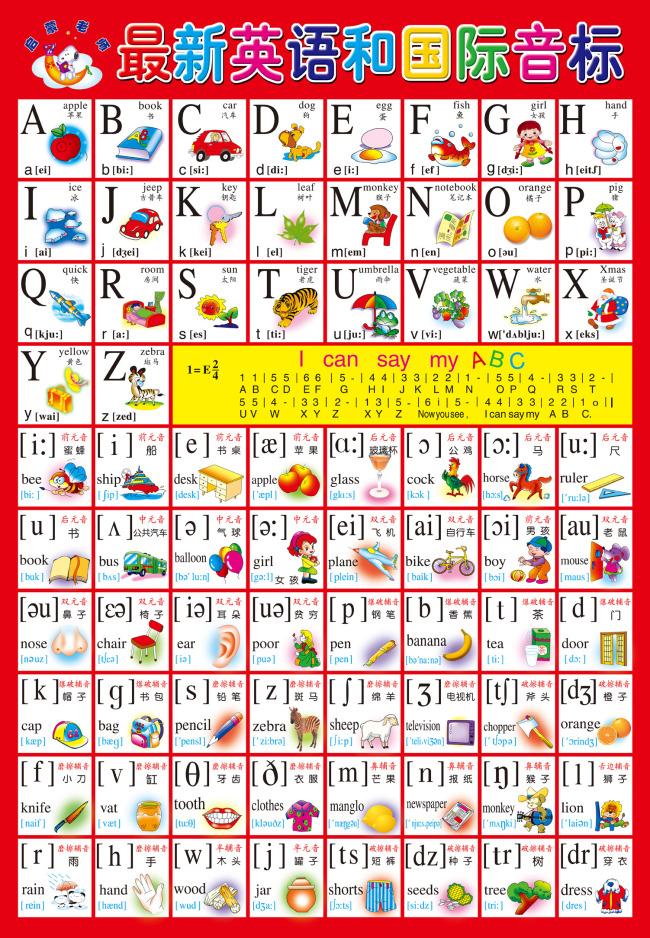 【psd】幼儿教育 英语单词和国际音标图片