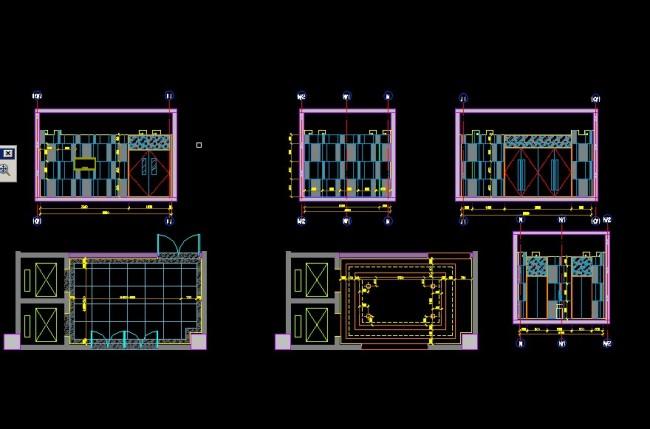 > 电梯间设计  关键词: 电梯间平面图 电梯间立面图 电梯间设计 说明