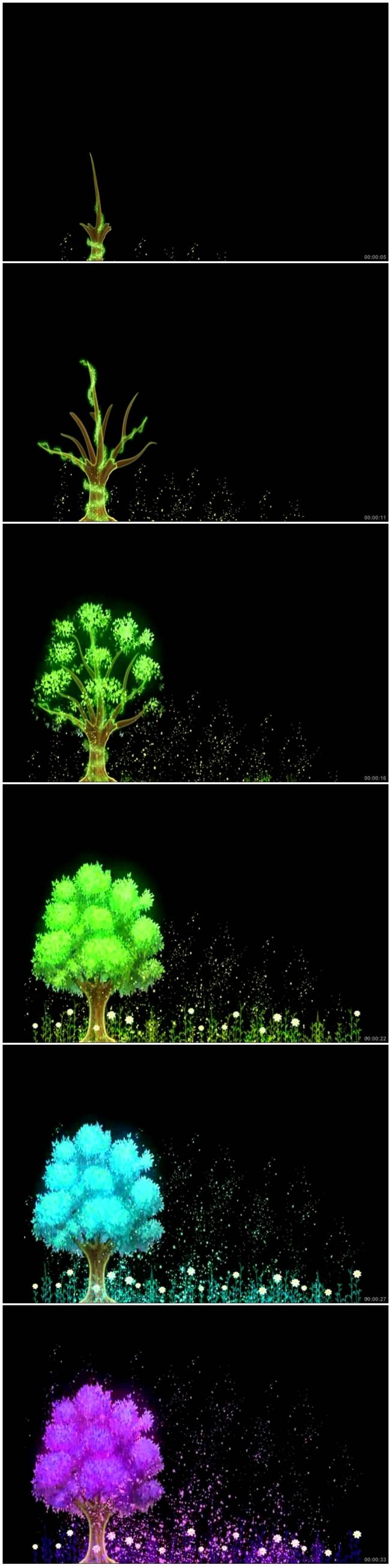 大树的油画图片步骤