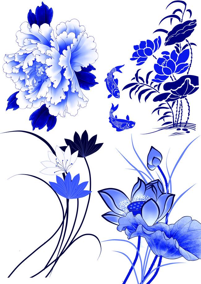 关键词: 青花瓷 古典 传统 矢量 矢量图 传统图案 中国元素 古典花纹