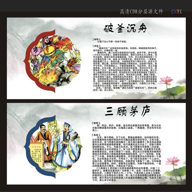 【cdr】校园成语故事文化展板