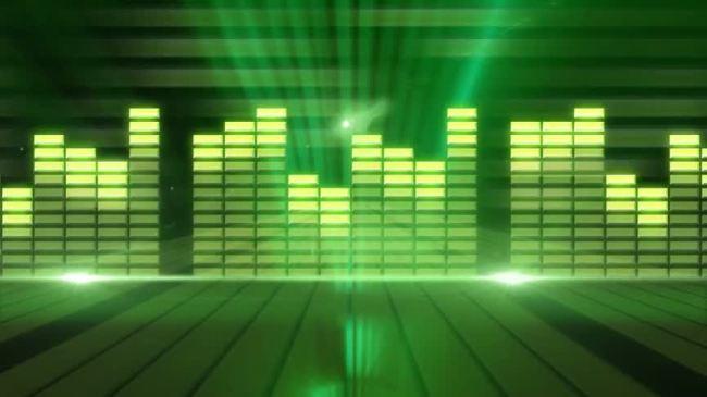 【mov】绿色音乐播放器指示灯光柱动态高清视频图片