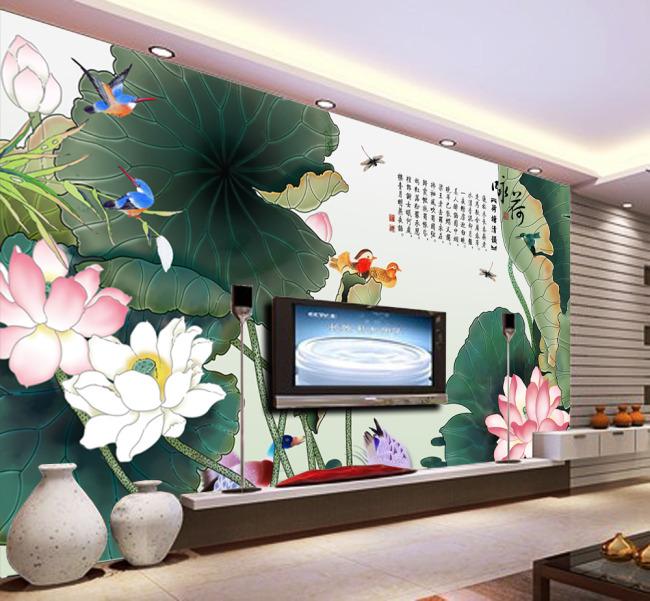 客厅 壁画 电视墙 形象墙 背景墙 壁纸 墙壁 墙画 墙纸 墙体 手绘