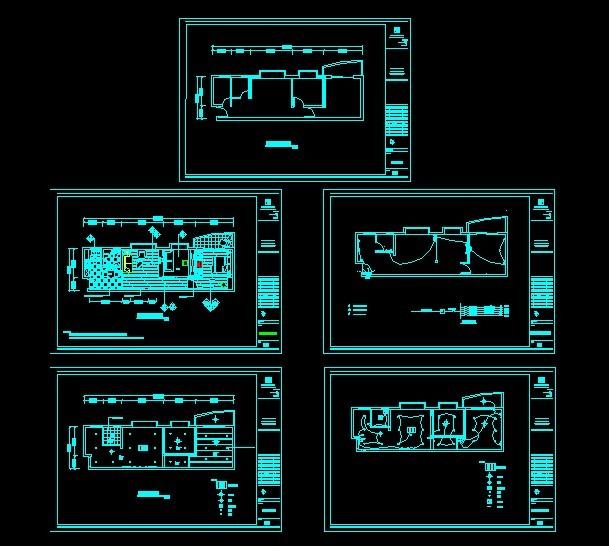 主页 原创专区 室内装饰|无框画|移门 cad图纸 > 房屋水电布置图