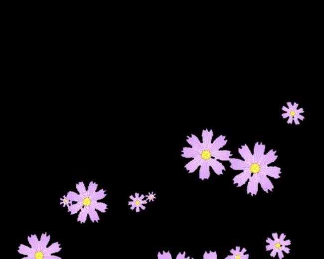 【avi】高清动态粉色飘落花瓣八瓣梅视频素材