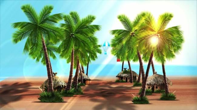 【mpg】海边椰子树视频背景高清动态素材
