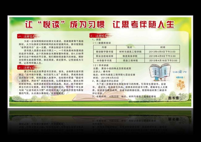 主页 原创专区 展板设计模板|x展架 学校展板设计 > 读书节展板宣传