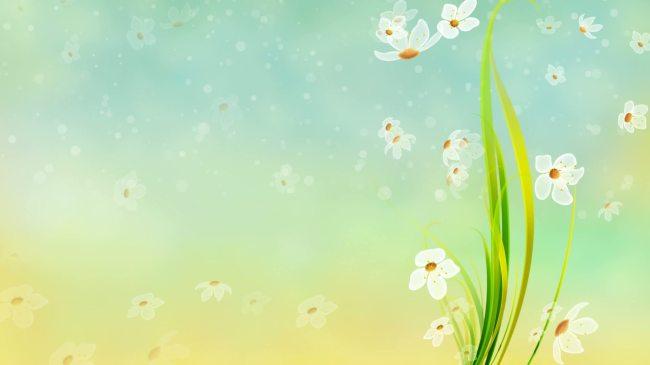 花朵 小花 可爱 唯美 漂亮 云朵 清新 婚礼 片头 led大舞台 视频背景