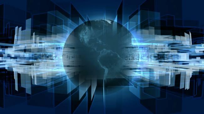 【mov】立体蓝色旋转地球高清视频素材
