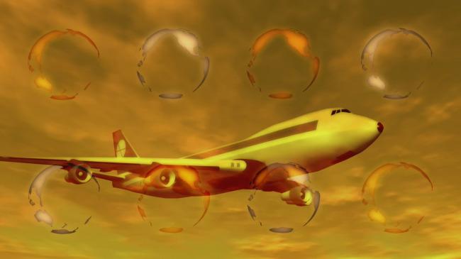 【mov】飞机飞行地球旋转高清视频背景素材