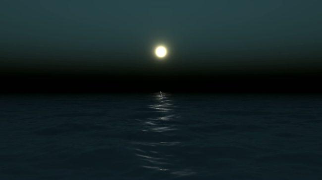好看的视频背景_【mov】海上月光夜色海水高清视频背景素材