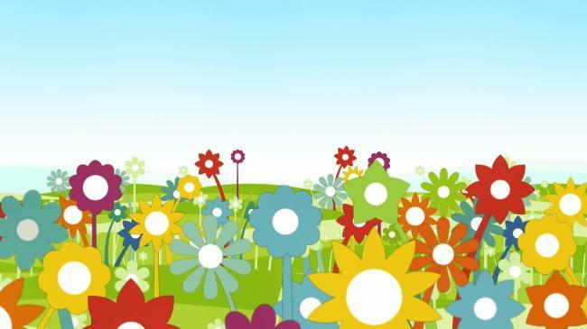 卡通可爱花朵生长视频  关键词: 花草 向日葵 小花 可爱 唯美 漂亮图片