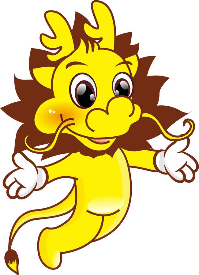 【ai】龙动物可爱卡通吉祥物卡通公司吉祥物