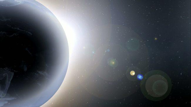 【mov】发光旋转地球光晕高清视频背景素材