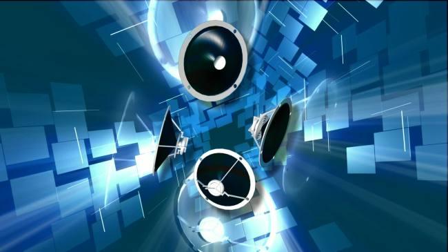 【mov】发光喇叭音响旋转高清视频背景素材
