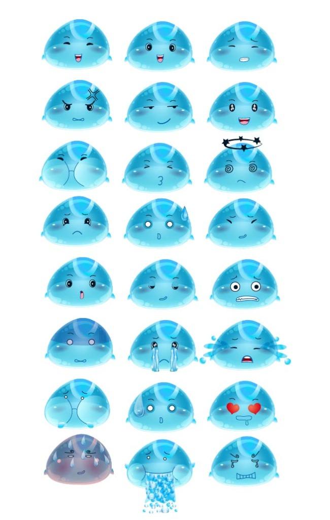 【ai】水滴气泡表情可爱卡通吉祥物公司吉祥物