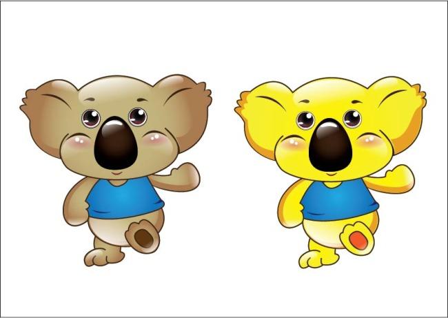 【ai】考拉动物形像设计可爱卡通吉祥物卡通