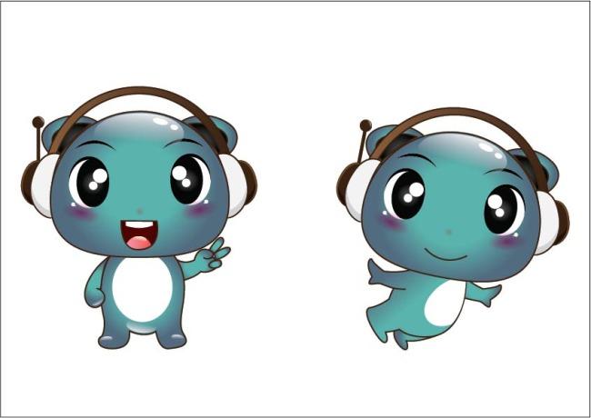 插画 企业吉祥物 卡通设计 卡通矢量图 ai eps 吉祥物下载 说明:耳机