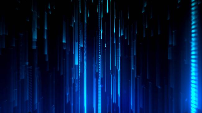 视频背景_【mov】蓝色光线瀑布流星雨飘落效果高清视频背景