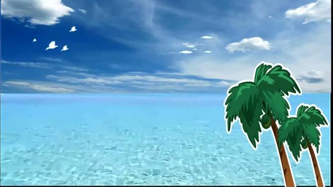 【mov】动画大海树木天空素材
