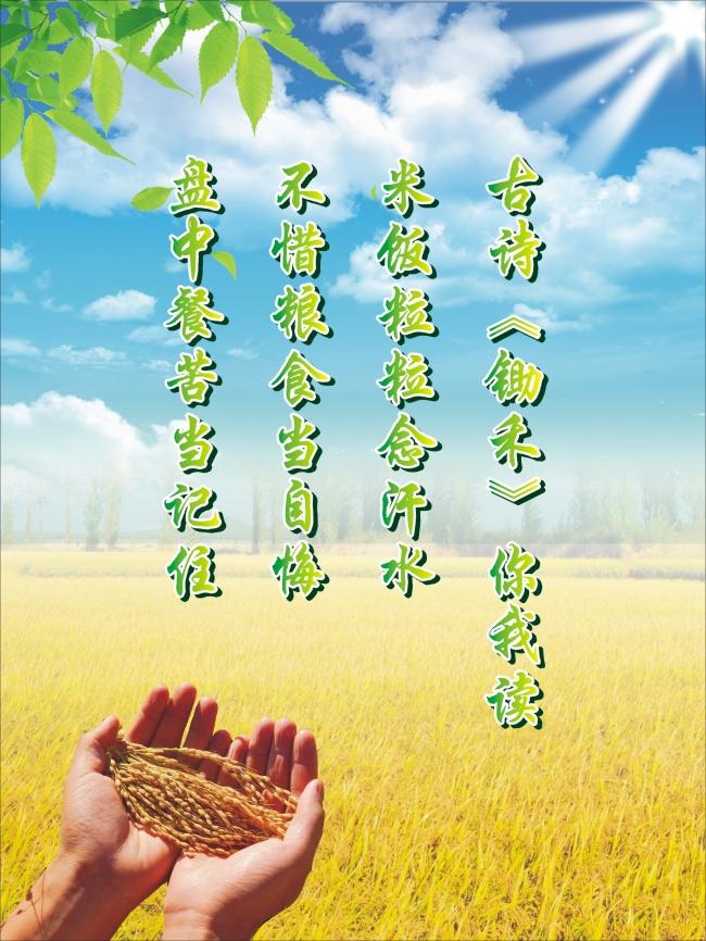 珍惜粮食公益画内容珍惜粮食公益画版面设计