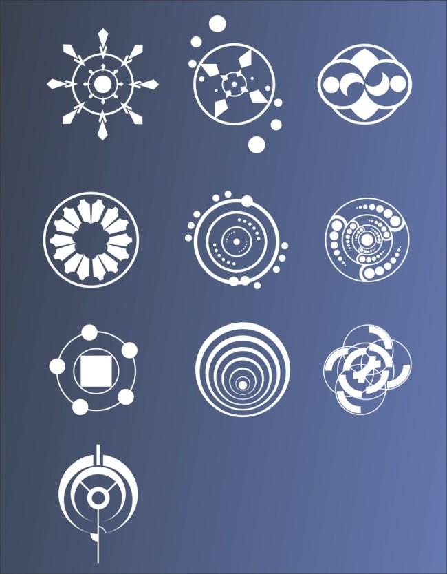 其它插画 > 麦田怪圈  关键词: 麦田怪圈 图案 圆圈 矢量图 神秘 超