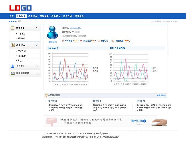【psd】系统界面 管理平台 后台首页设计