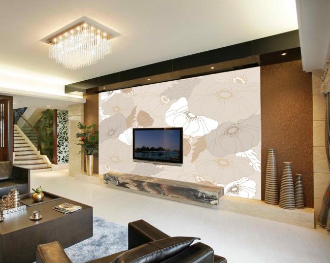装饰画 梦幻 背景墙 电视墙 形象墙 米素 简约 淡雅 个性 线条 现代