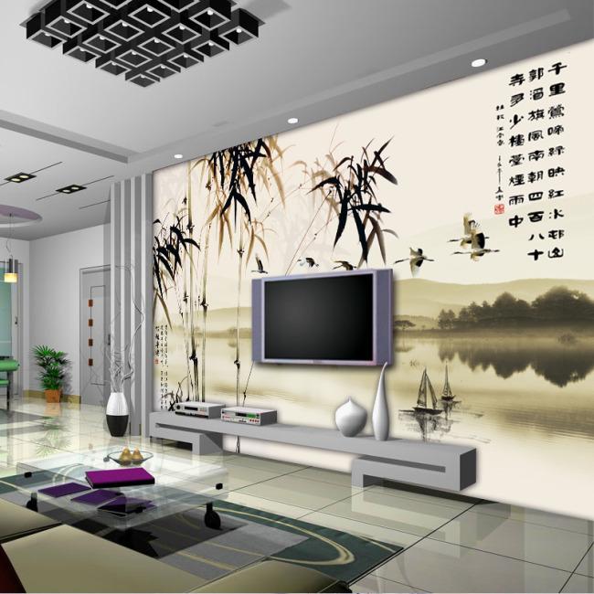 主页 原创专区 室内装饰|无框画|移门 背景墙 > 江南春色背景墙  关键