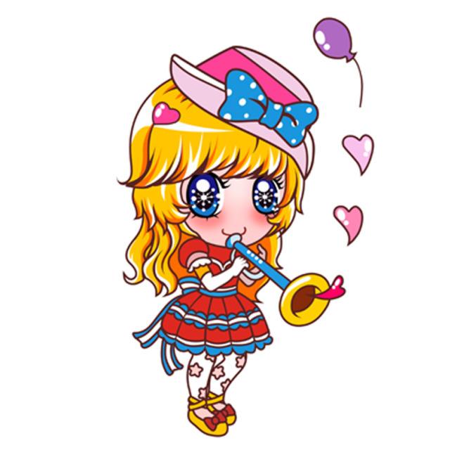女孩子 小女孩 可爱卡通 韩国卡通 卡通形象 手绘 卡通 可爱书签 草莓