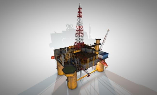 【c4d】3d海上油井c4d模型下载图片