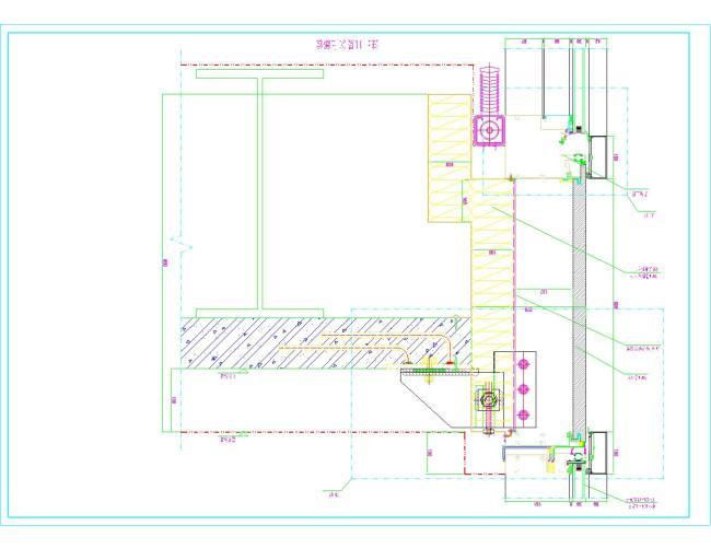 玻璃幕墙常用节点图 cad玻璃幕墙节点示意图