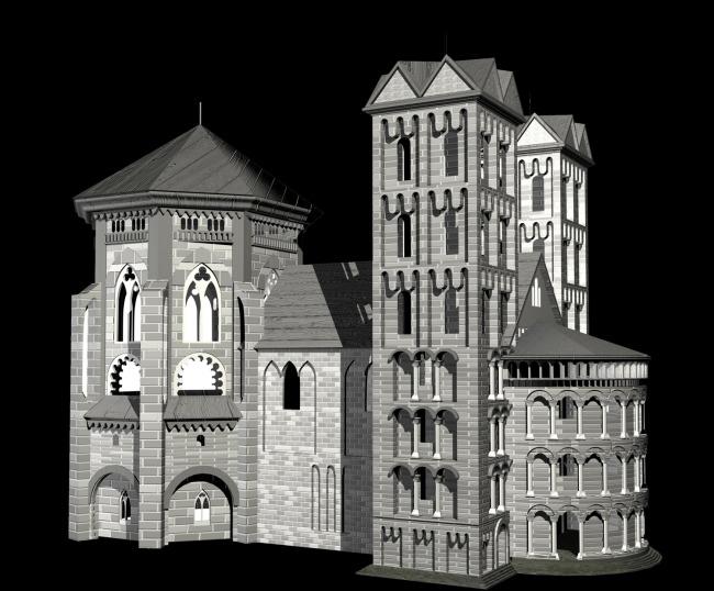【max】3d模型别墅欧式飘窗窗户外轮廓