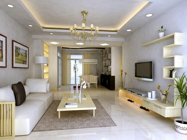 【max】室内客厅装修效果图3d带贴图材质灯光