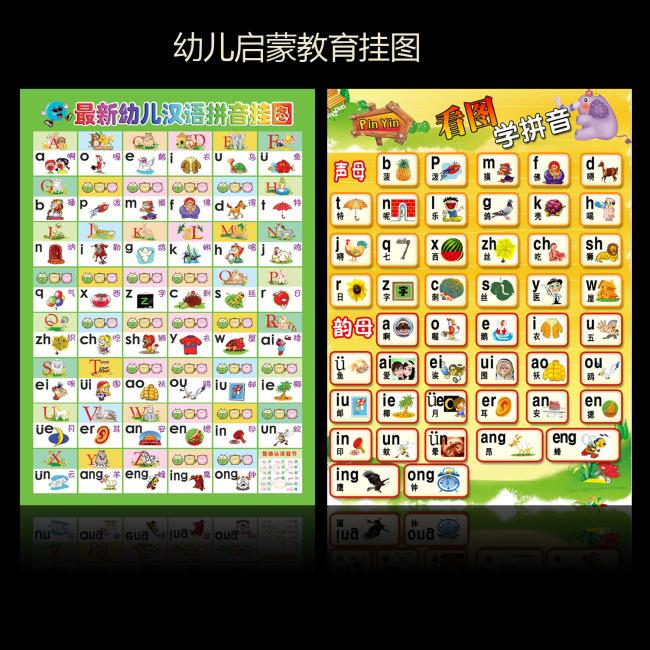 【psd】幼儿汉语拼音挂图