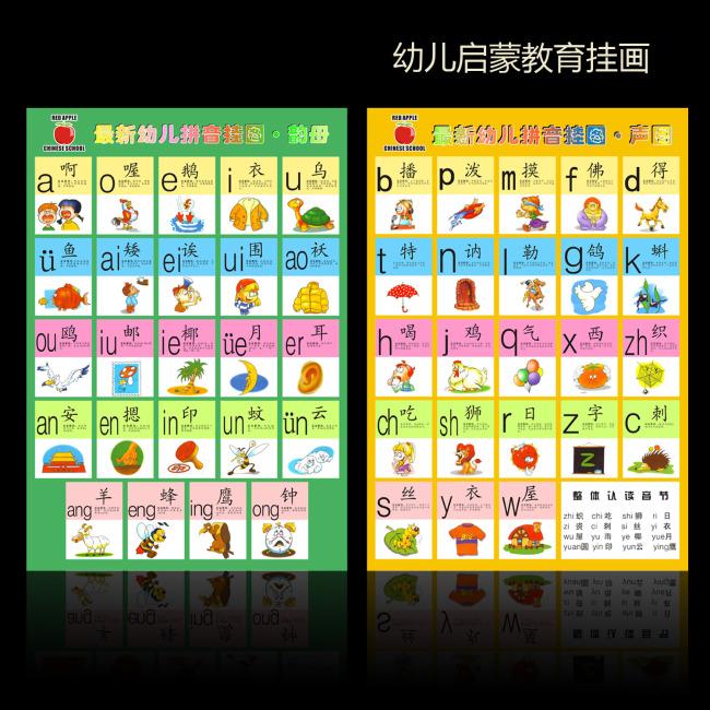 原创专区 海报设计|宣传广告设计 宣传单|彩页|dm > 幼儿汉语拼音挂图
